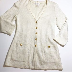 Escada by Margaretha Ley Jacquard Cardigan
